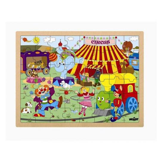 Дървен пъзел с рамка - Цирк