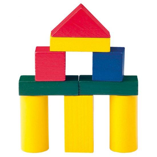 Дървен конструктор цветен, 50 части