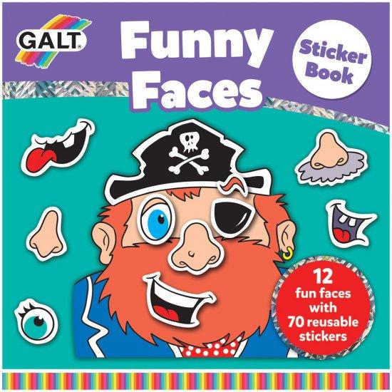 Книжка със стикери - Забавни лица