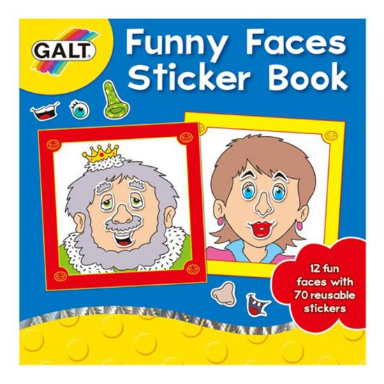 Книжка със стикери, Забавни лица