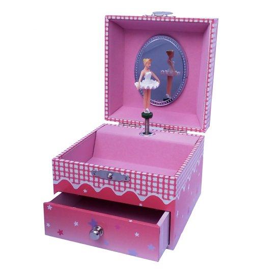 Музикална кутия - Балерина, тъмно-розова