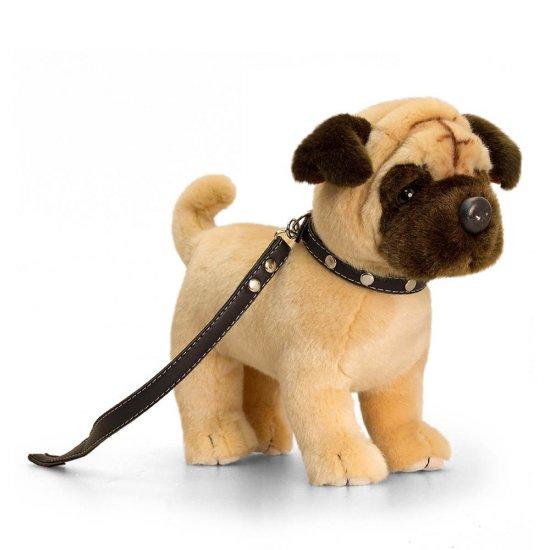 Плюшено куче, Мопс с каишка, 30 см