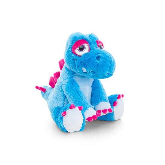 Плюшен динозавър, син, 16 см
