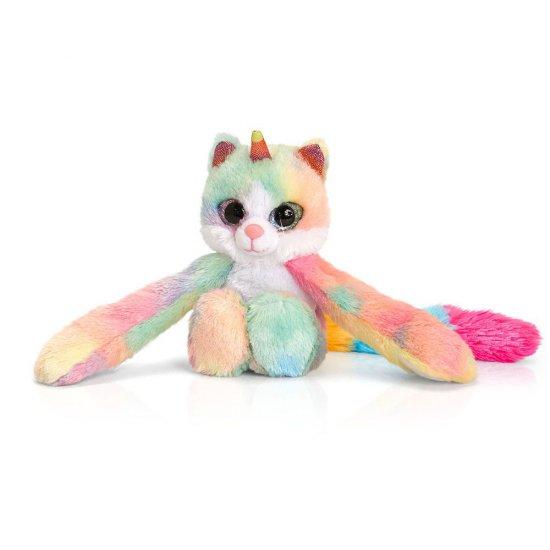 Прегърни ме, Плюшена играчка, Коте еднорог Уна, 12 см