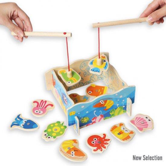3D дървен риболов