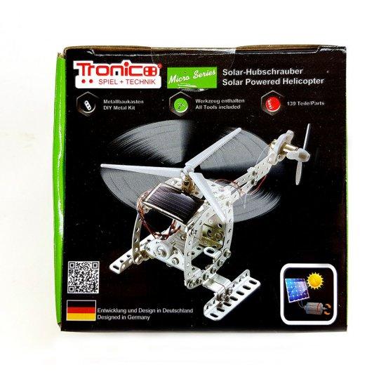 Метален конструктор със соларна батериия, Хеликоптер, 139 части, Micro Series