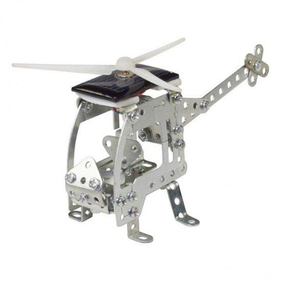 Метален конструктор със соларна батериия, Хеликоптер, 97 части, Micro Series