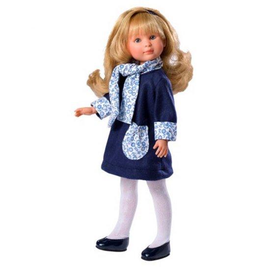 Кукла Силия, с рокля с флорални мотиви, 30 см