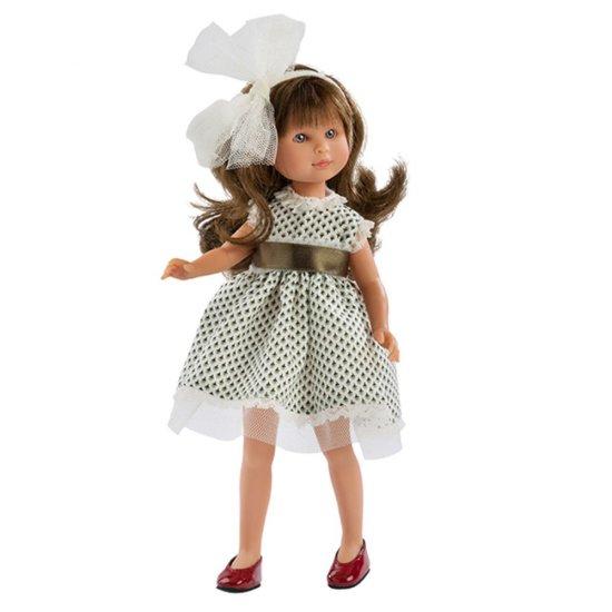 Кукла Силия, с рокля от тюл и голяма бяла панделка, 30 см