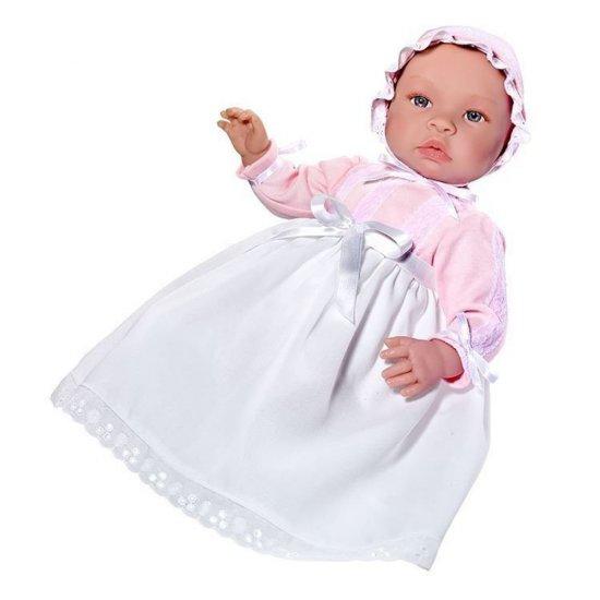 Кукла-бебе, Лея, с дълга бяла рокля