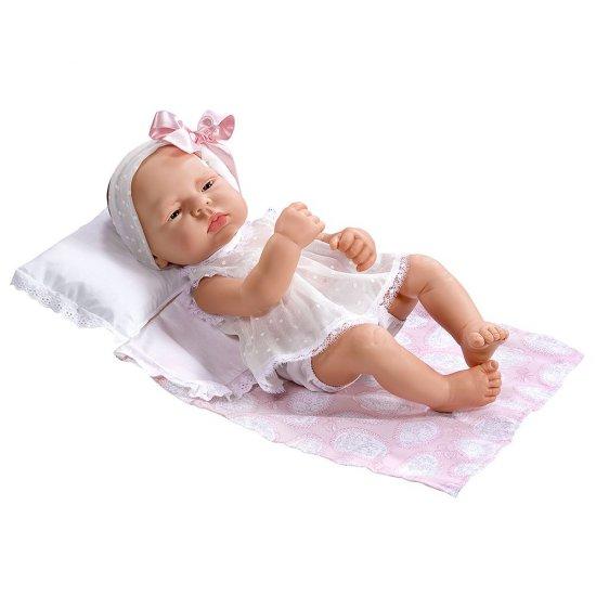 Кукла-бебе Лучия, с розова панделка