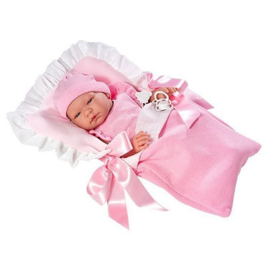 Кукла-бебе Мария с розово чувалче за сън