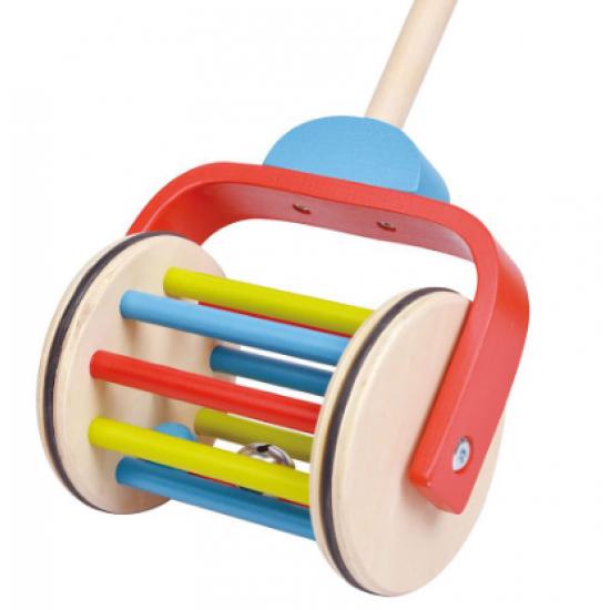 Дървена играчка за бутане - дъга