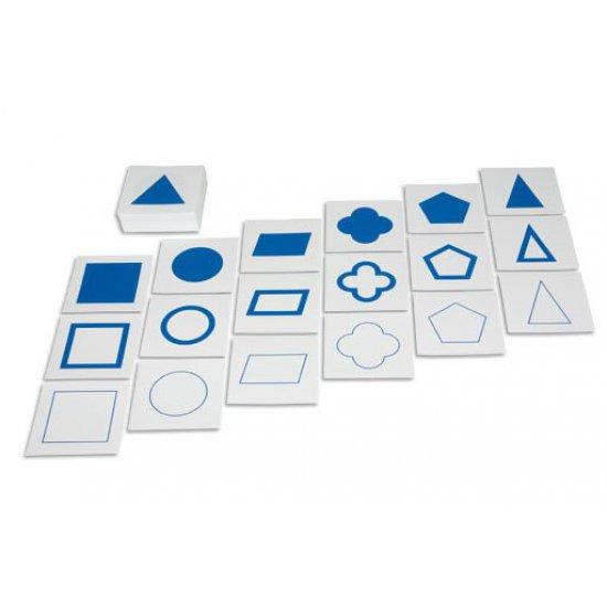 Карти за геометричен шкаф - Монтесори материали