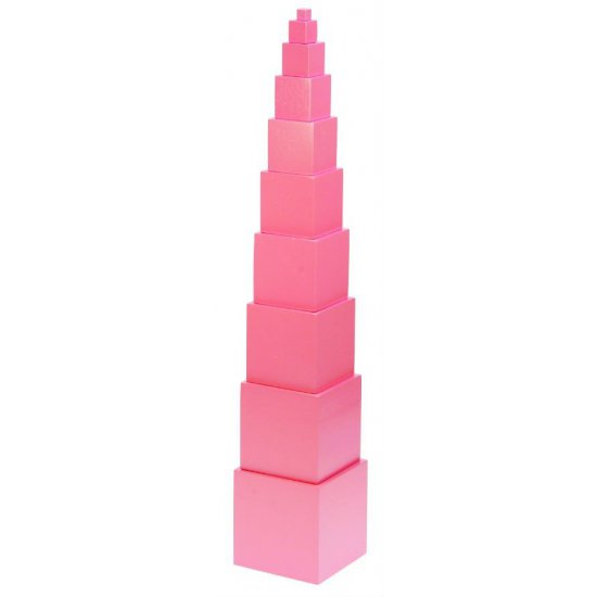 Мини розова кула - Монтесори материали