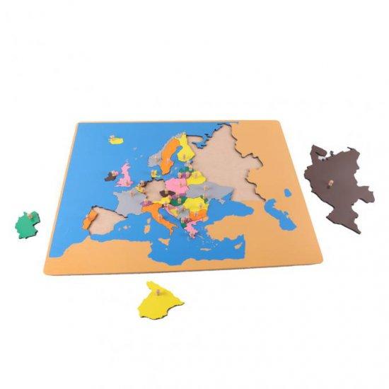 Малък пъзел карта на Европа - Монтесори материали