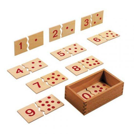 Пъзел с числата от 1 до 10 - Монтесори материали