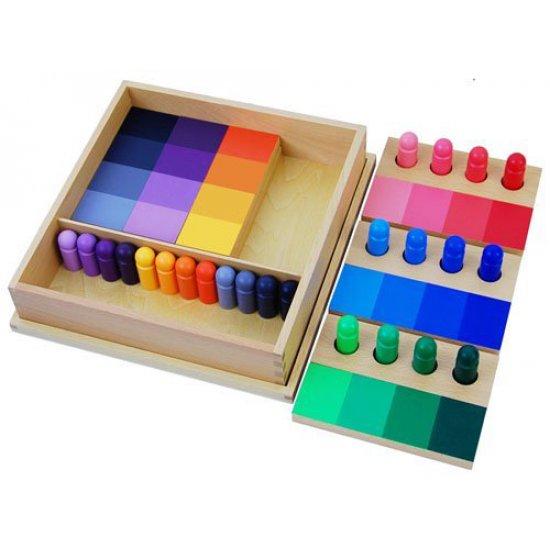Игра сортиране по цветове - Монтесори материали