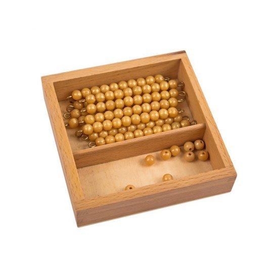Кутия със златисти десетици и единици - Монтесори материали