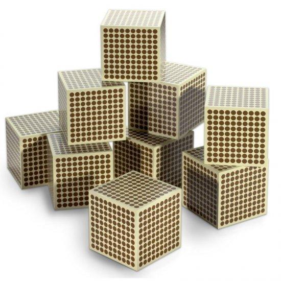Дървени кубчета за хиляда /9 бр/ - Монтесори материали