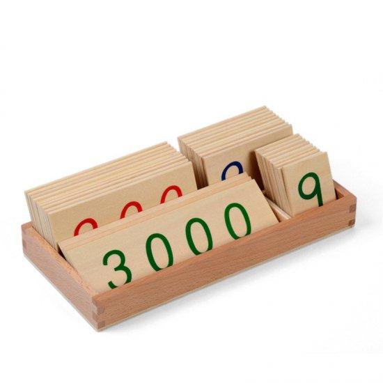 Големи дървени карти в кутия /1 до 9000/ - Монтесори материали