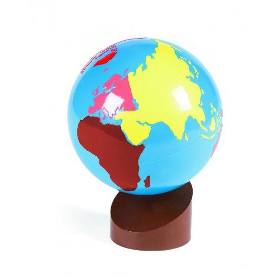 Цветен глобус на континентите - Монтесори материали