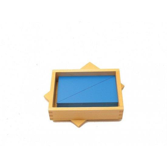 Кутия със сини триъгълници - Монтесори материали