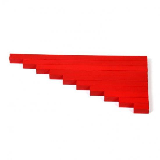 Червени летви - Монтесори материали