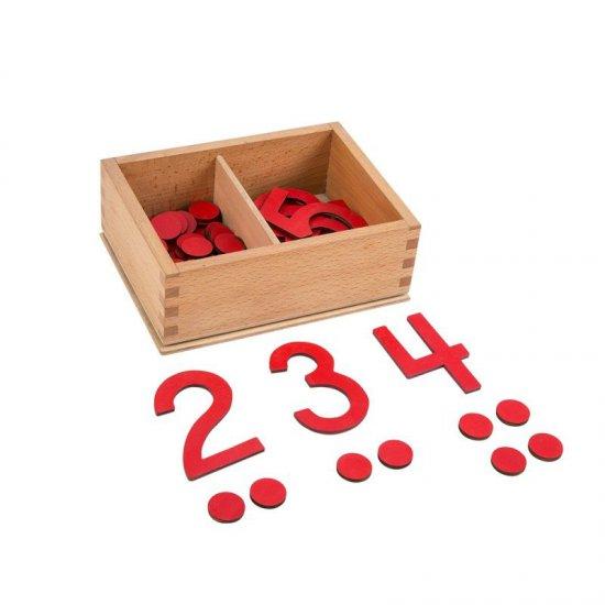 Числа и жетони - Монтесори материали