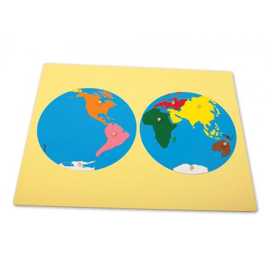 Пъзел карта на света - Монтесори материали