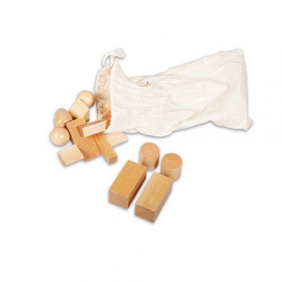 Стереогностична торбичка с геометрични фигури - Монтесори материали