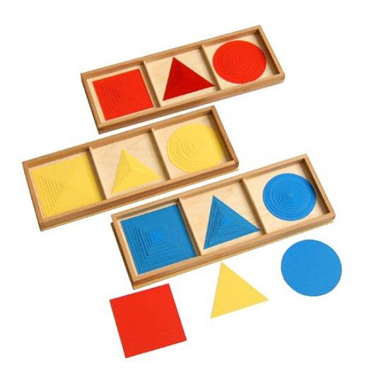 Концентрични геометрични фигури - Монтесори материали