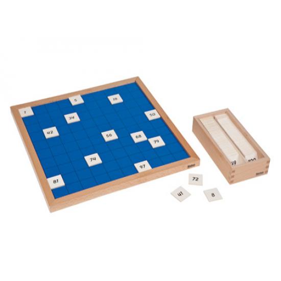 Табло с числата от 1 до 100 - Монтесори материали