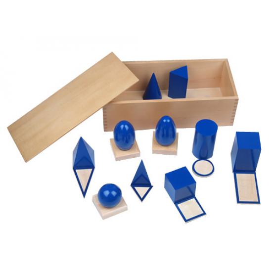 Геометрични фигури в кутия - Монтесори материали