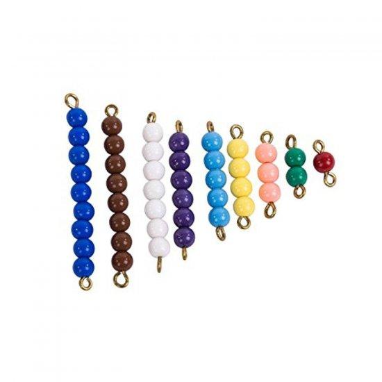 Цветна стълбица с мъниста от 1 до 9 - Монтесори материали
