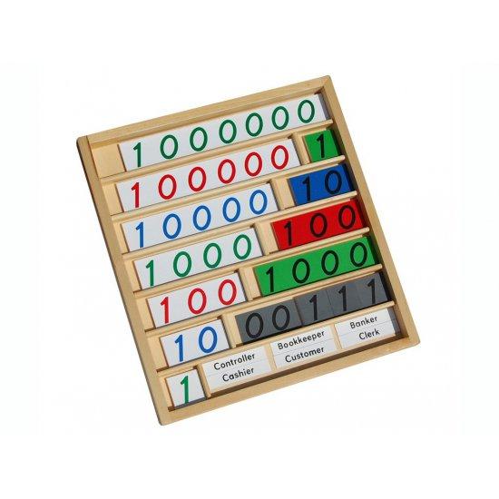 Карти за игра на банка в кутия - Монтесори материали
