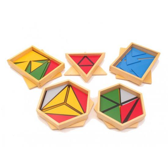 Мини конструктивни триъгълници - Монтесори материали