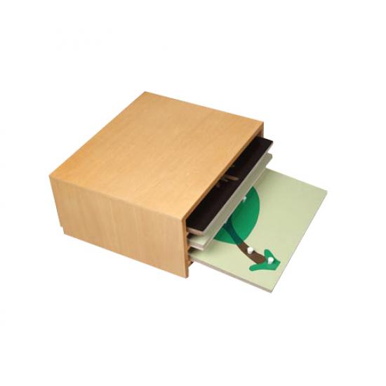 Шкаф с три ботанически пъзела - Монтесори материали