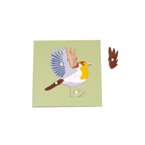 Пъзел птица със скелет - Монтесори материали