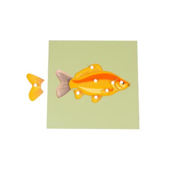 Пъзел риба със скелет - Монтесори материали