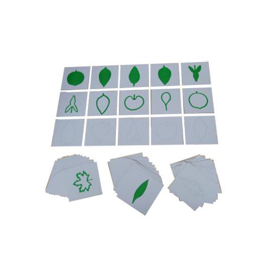 Три комплекта карти - формата на листа - Монтесори материали