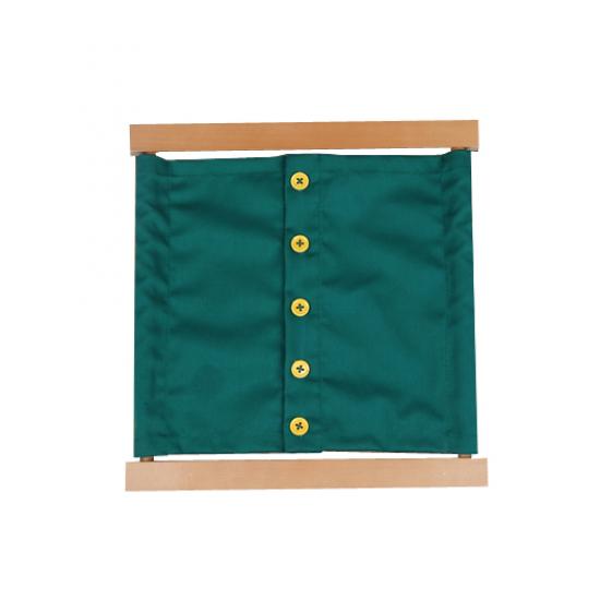 Рамка за закопчаване на копчета - Монтесори материали