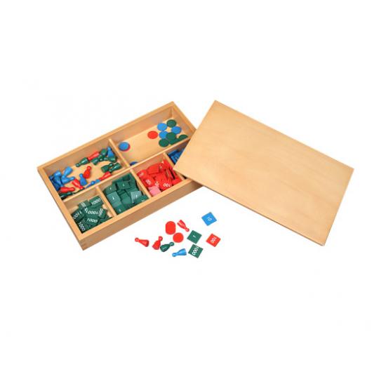 Математическа игра с нумерологични плочки - Монтесори материали