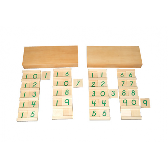 Математически табла от 11 до 19 и от 10 до 99 - Монтесори материали