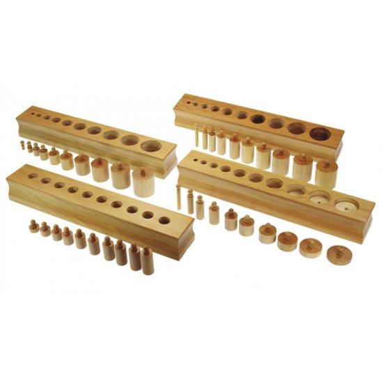 Цилиндри с дръжки, премиум - Mонтесори материали