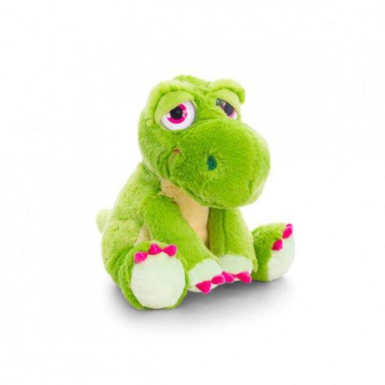 Плюшен динозавър, зелен, 16 см