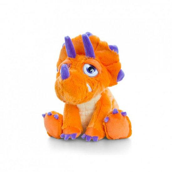 Плюшен динозавър, оранжев, 16 см