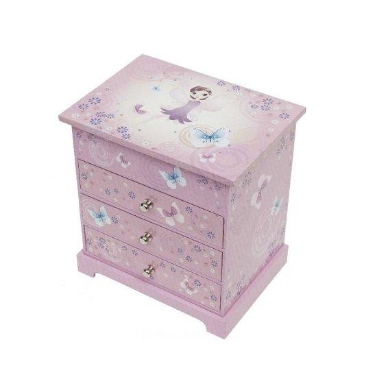 Mузикална кутия за бижута с три чекмеджета, Феята Парма